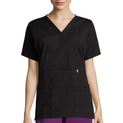 WonderWink® Womens Short-Sleeve Peek-A-Boo Pocket Top - Plus