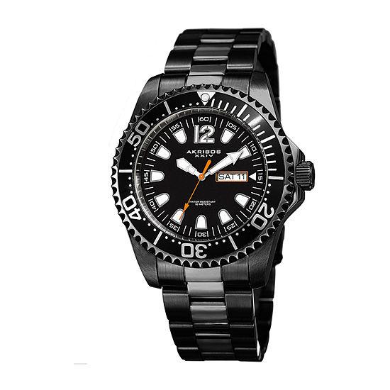 Akribos XXIV Mens Black Bracelet Watch-A-947bk