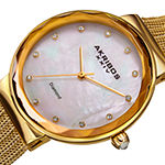 Akribos XXIV Womens Gold Tone Stainless Steel Bracelet Watch-A-1009yg
