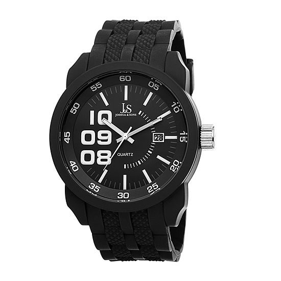 Joshua & Sons Mens Black Strap Watch-J-63bk