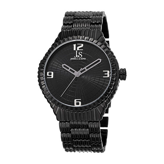 Joshua & Sons Mens Black Strap Watch-J-99bk