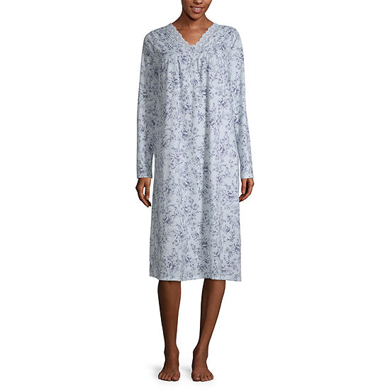 Adonna Womens V Neck Long Sleeve Nightgown