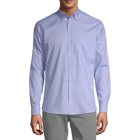 IZOD Young Mens Oxford Stretch Dress Shirt