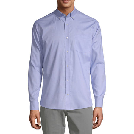 IZOD Young Mens Oxford Stretch Dress Shirt, X-large , Blue
