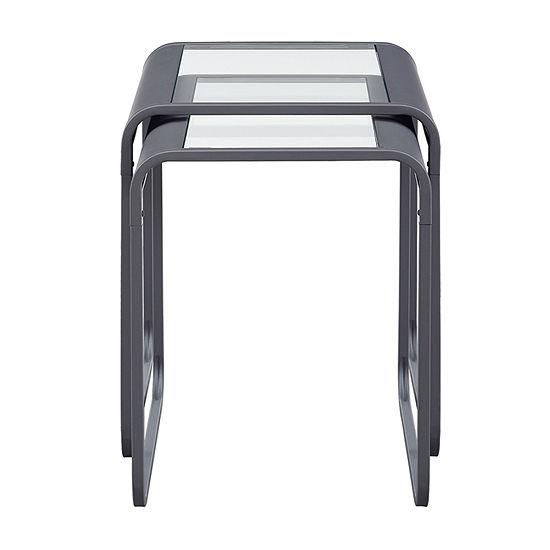 Modern Industrial Metal Nesting Tables