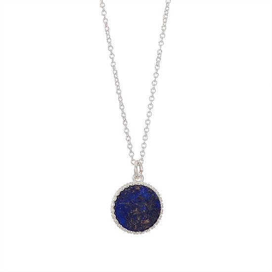 Footnotes Womens Blue Lapis Pendant Necklace