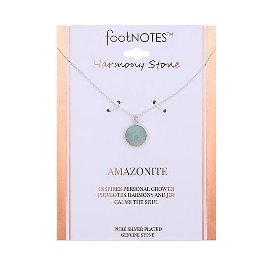 Footnotes Womens Green Amazonite Pendant Necklace