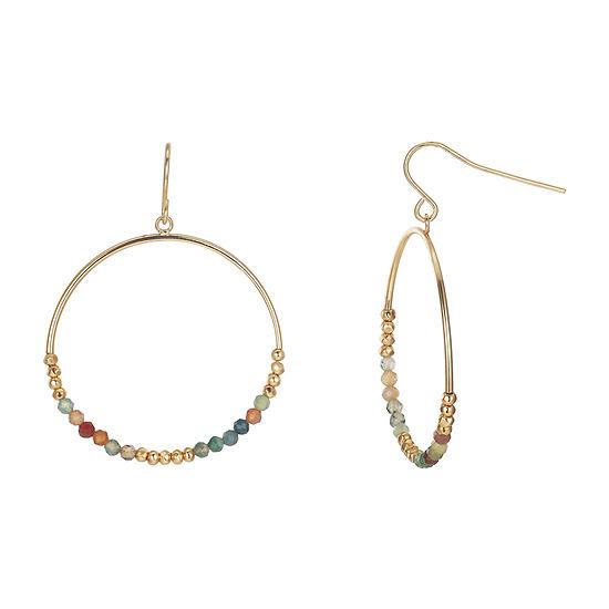 Footnotes Multi Color 1.4mm Hoop Earrings