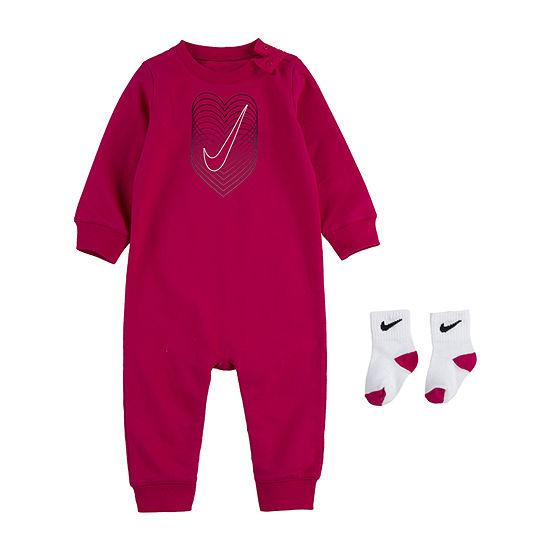 Nike Heart Baby Girls Long Sleeve Jumpsuit