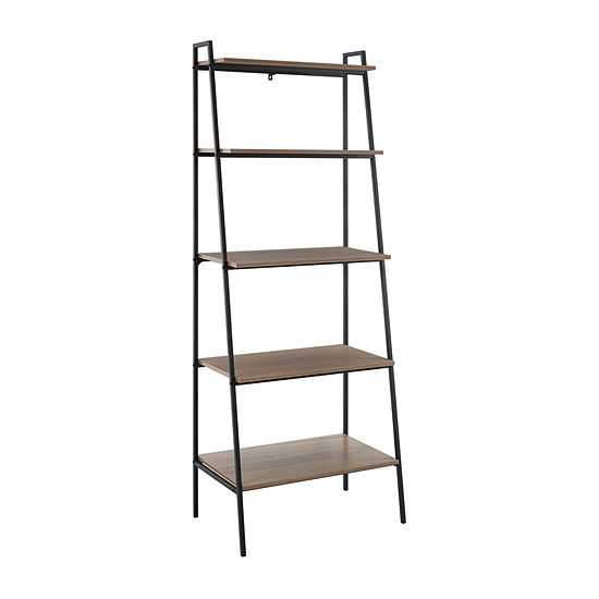 Modern Industrial Ladder Style Bookcase