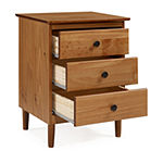 Walker Edison Modern 3 Drawer Nightstand