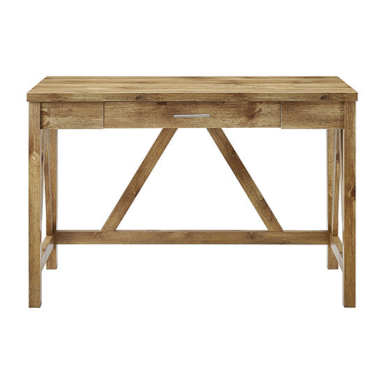 Walker Edison Rustic Wood Computer Desk