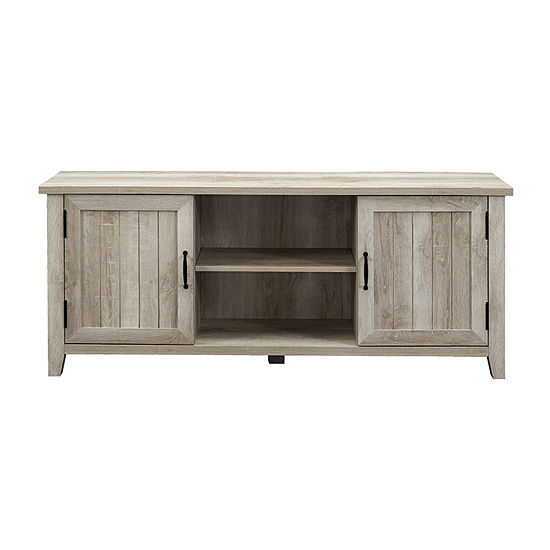 Farmhouse 2-Door Simple Rustic TV Stand