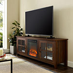 Wood Fireplace TV Stand