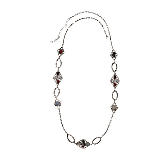 Mixit Americana Womens Diamond Beaded Necklace