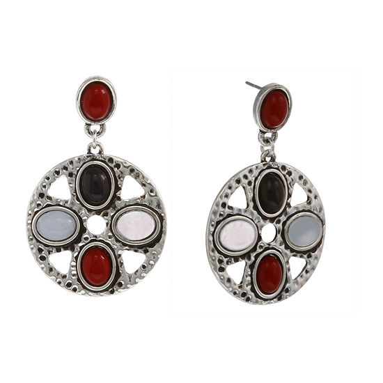Mixit Americana Round Drop Earrings