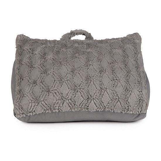 Brentwood Originals Arrow Fur Wedge Bed Rest Pillow