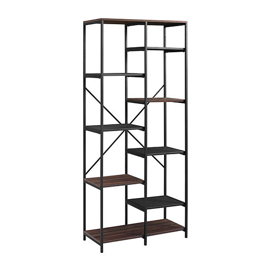 Walker Edison Industrial Wood Bookcase