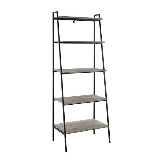 Walker Edison Industrial Ladder Bookcase