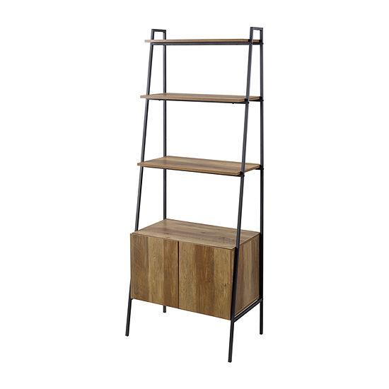 Modern Ladder Shelf-Cabinet Bookcase