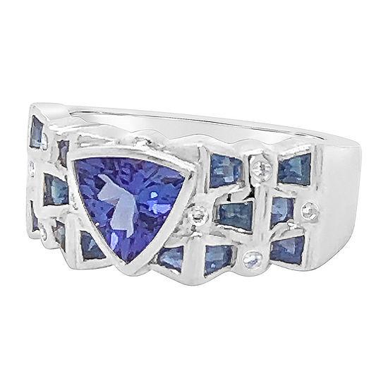 LIMITED QUANTITIES! Le Vian Grand Sample Sale™ Ring featuring Blueberry Tanzanite® Blueberry Sapphire™ Vanilla Diamonds® set in 18K Vanilla Gold®