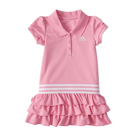adidas Toddler Girls Short Sleeve T-Shirt Dress