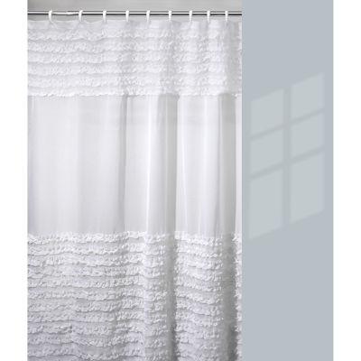 Creative Bath Shower Curtain creative bath ruffles shower curtain