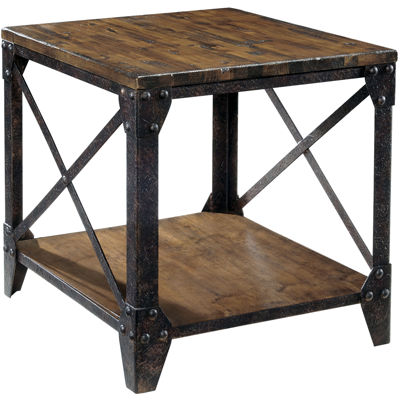 "Ironwood Distressed Pine Rectangular 22"" End Table"