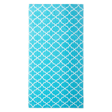 JCPenney Home Lattice Bath Towels, One Size , Blue