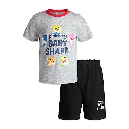 Pinkfong Baby Shark 2-pc. Short Set Toddler Boys