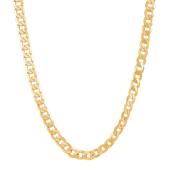 Made in Italy 14K Gold 24 Inch Solid Curb Chain Necklace