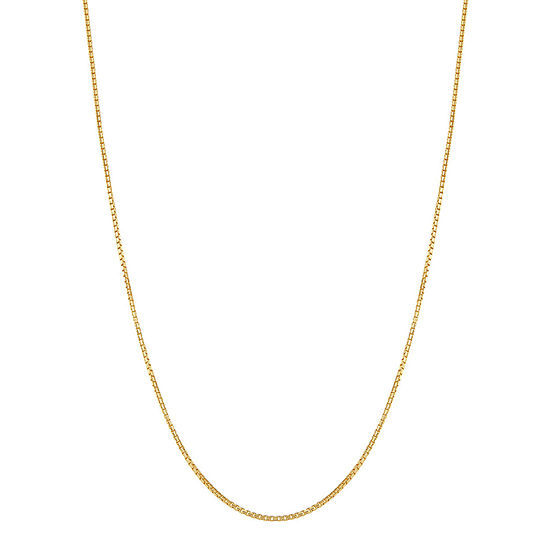 Made In Italy 10k Gold 24 Inch Solid Box Chain Necklace