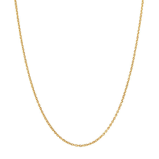 Made in Italy 10K Gold 24 Inch Solid Curb Chain Necklace