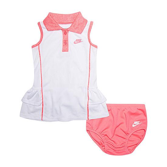 Nike Sleeveless Logo T Shirt Dresses Baby Girls