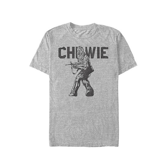 "Star Wars"" Mens Crew Neck Short Sleeve Chewbacca Graphic T-Shirt"