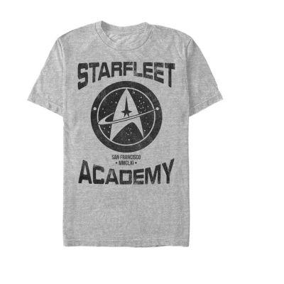 "Starfleet Academy"" Mens Crew Neck Short Sleeve Star Trek Graphic T-Shirt"