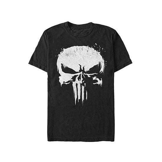 "Skull Costume"" Mens Crew Neck Short Sleeve Punisher Graphic T-Shirt"
