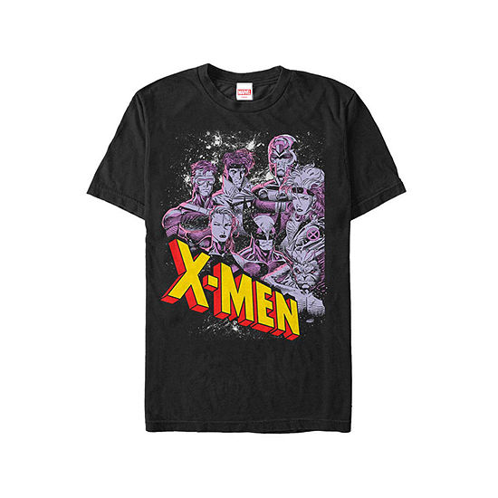 "X-Men Classic Characters					"" Mens Crew Neck Short Sleeve Graphic T-Shirt"