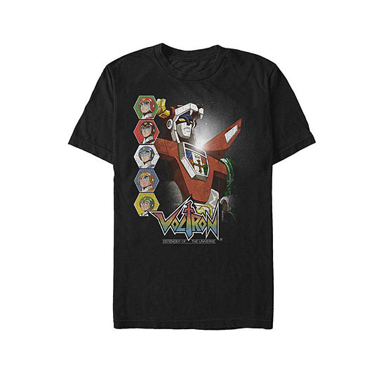 """Voltron: Defender Of The Universe"""" Mens Crew Neck Short Sleeve Graphic T-Shirt"""