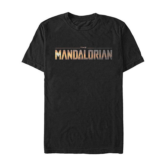 "The Mandalorian Logo"" Mens Crew Neck Short Sleeve Star Wars Graphic T-Shirt"