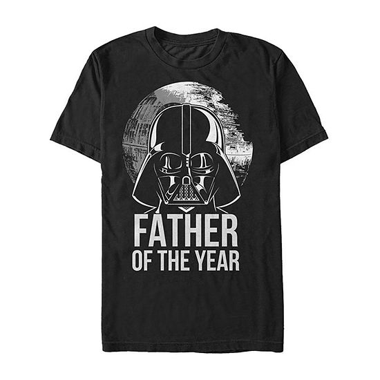 "Vader Father Of The Year					"" Mens Crew Neck Short Sleeve Star Wars Graphic T-Shirt"
