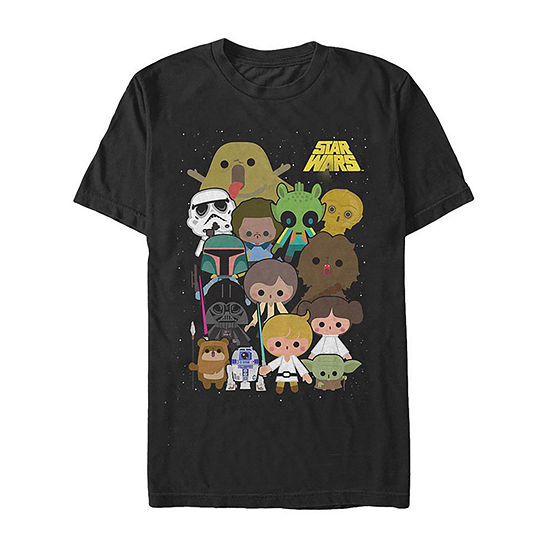 "Chibi Group Shot					"" Mens Crew Neck Short Sleeve Star Wars Graphic T-Shirt"