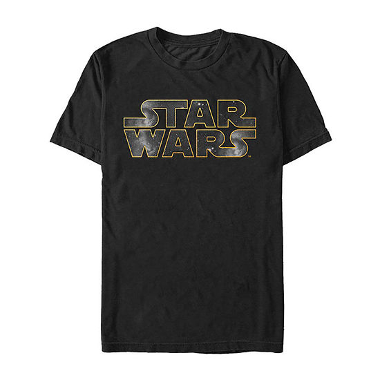 "Logo"" Mens Crew Neck Short Sleeve Star Wars Graphic T-Shirt"
