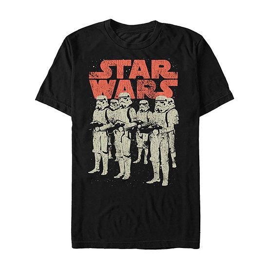"Storm Trooper Group Shot"" Mens Crew Neck Short Sleeve Star Wars Graphic T-Shirt"