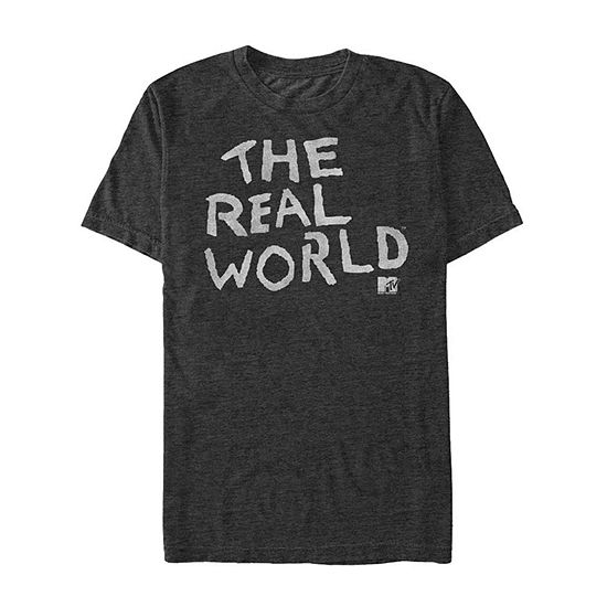 "Mtv The Real World					"" Mens Crew Neck Short Sleeve Graphic T-Shirt"