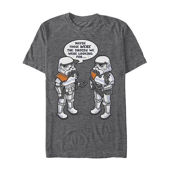 "Droid Humor					"" Mens Crew Neck Short Sleeve Star Wars Graphic T-Shirt"