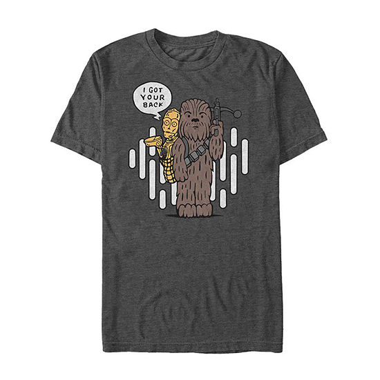 """C3-Po And Chewie"""" Mens Crew Neck Short Sleeve Star Wars Graphic T-Shirt"""
