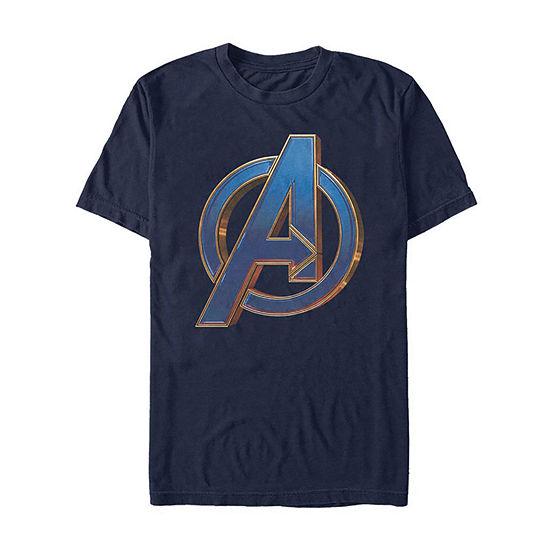 Endgame Logo Mens Crew Neck Short Sleeve Avengers Graphic T Shirt