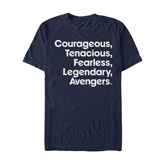 """Endgame Inspirational Words"""" Mens Crew Neck Short Sleeve Avengers Graphic T-Shirt"""