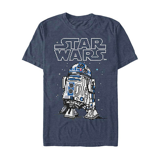 "Pixelated R2d2					"" Mens Crew Neck Short Sleeve Star Wars Graphic T-Shirt"